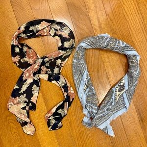 Accessories - Bundle of 2 Scarves (1 square, 1 skinny)